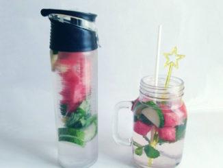 eau aromatisée concombre menthe pastèque