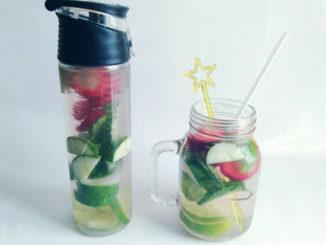 eau aromatisée citron vert concombre fraise menthe