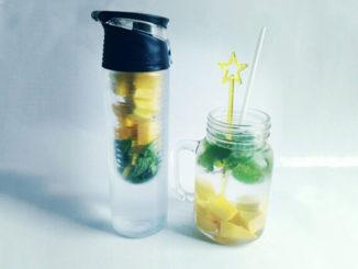 eau aromatisée mangue et menthe