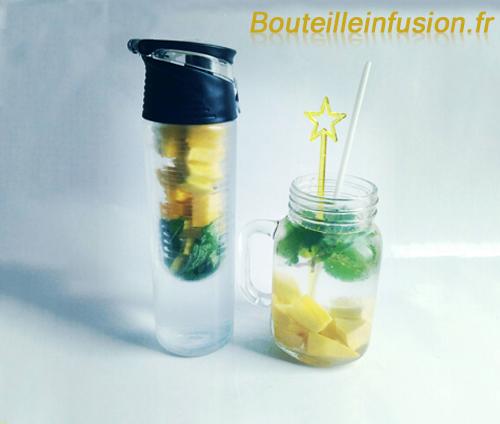 bouteille infusion mangue et menthe