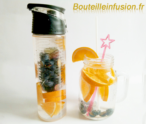 eau détox orange myrtille