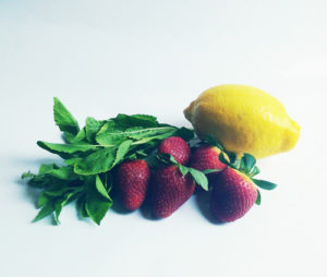 boisson détox basilic citron fraise