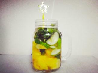 eau aromatisée ananas concombre menthe