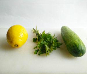 infusion-citron-concombre-coriandre-eau infusée