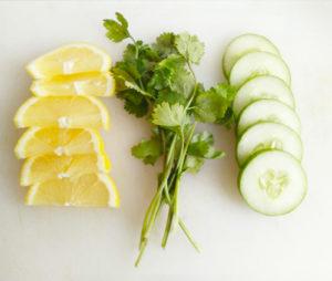 infusion-citron-concombre-coriandre-eau détox