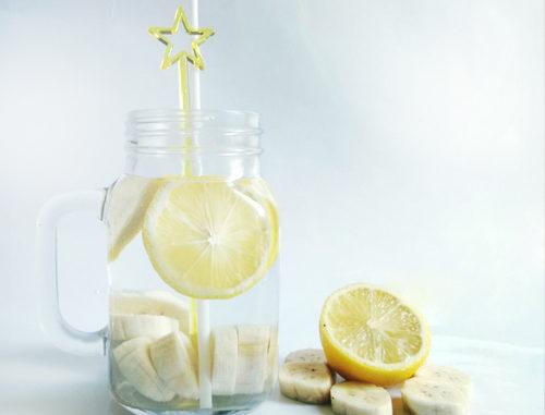 eau aromatisée banane citron