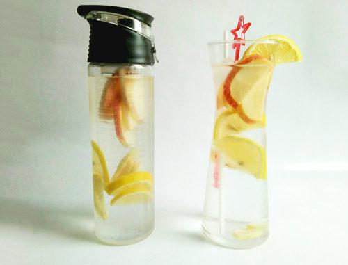 eau aromatisée citron gingembre pomme