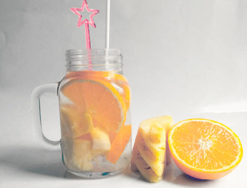 eau aromatisée ananas orange