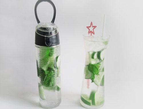 eau aromatisée citron vert concombre menthe