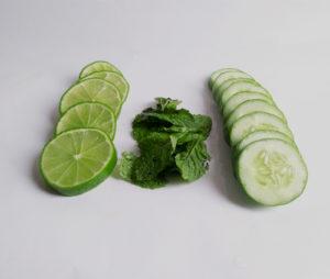 Recette aromatisée citron vert concombre menthe