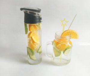 eau aromatisée concombre orange