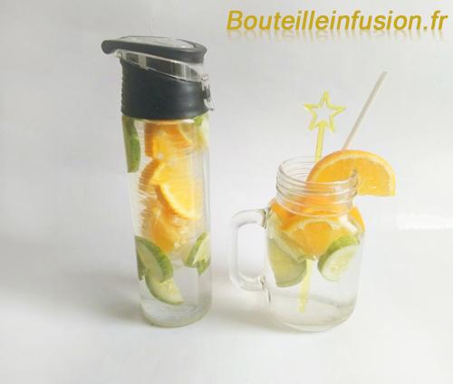 eau infusée concombre orange