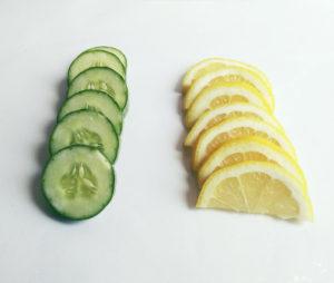 eau infusée concombre citron