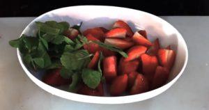 fraise pastèque menthe