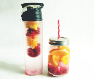 recette eau orange framboise