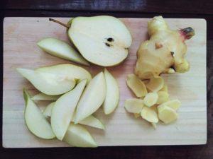 recette eau aromatisée gingembre poire