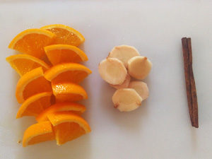 Recette infusée orange cannelle gingembre